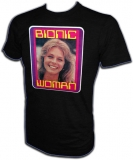 Bionic Woman Lindsay Wagner Vintage TV T-Shirt border=