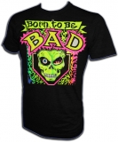 Born To Be Bad 80's Glam Skateboard Vintage T-Shirt border=