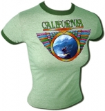 California Surf Pipeline 70's Vintage T-Shirt border=