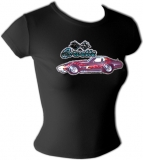Chevrolet Sexy Flaming Corvette Vintage T-Shirt border=