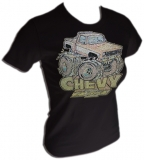 Chevrolet Vintage Distressed Tough Girl T-Shirt border=