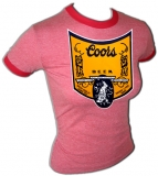 Coors Beer Shield of Honor Sexy Vintage T-Shirt border=