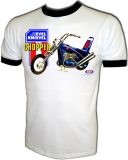 Evel Knievel 1973 Ideal Toy Chopper Vintage T-Shirt border=