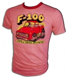 Ford F-100 Rockabilly Pick-Up Truck Vintage T-Shirt border=