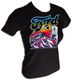 Ford Van Burning Out Sexy Vintage Gym T-Shirt border=