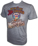 7th Day God Created Motorcycles Vintage T-Shirt border=