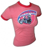 Kawasaki 1979 Motorcycle Catalog Print Vintage T-Shirt border=