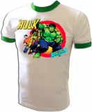 Marvel Comics Hulk Transformation Vintage T-Shirt border=