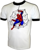 Marvel Comics Web Spinning Spiderman Vintage T-Shirt border=