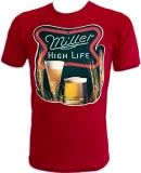 Miller High Life Milwaukee Beer 1978 Vintage T-Shirt border=