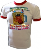 I'm Only Here For The Beer! Frat Boy Vintage T-Shirt border=