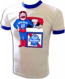 Pabst 'Cool Blue' Super Beer Dude Vintage T-Shirt border=