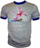 Pink Panther Water Skiing Lake Lush Vintage T-Shirt border=