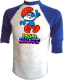 "Smurfs ""How Much Longer Papa Smurf?"" Vintage T-Shirt border="