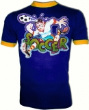Soccer Maniac Kicker Vintage Football T-Shirt border=