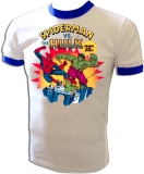 Marvel Comics Spiderman Vs. Hulk Vintage T-Shirt border=
