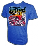Ford Van Burning Out Vintage T-Shirt