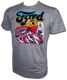 Ford Van Burning Out Vintage Gym T-Shirt