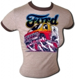 Ford Van Burning Out Sexy Vintage Gym T-Shirt
