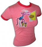 Pink Panther Basketball Slam Dunk Vintage T-Shirt