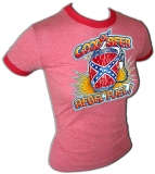 Sexy Southern Girl Rebel Fuel BEER Vintage T-Shirt